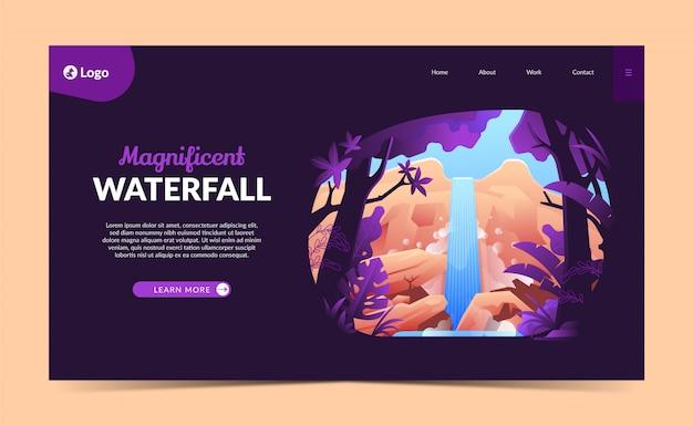 Landing page waterfall