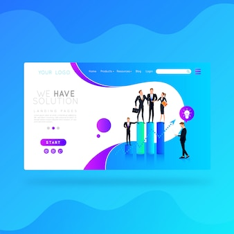 Landing page we have solution