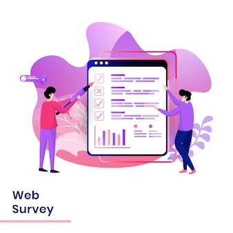 Landing page web survey illustration