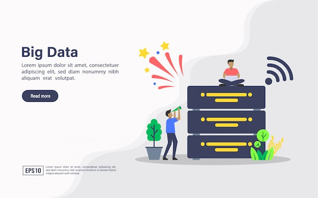 Landing page web template of big data