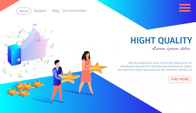 Landing page web template high quality