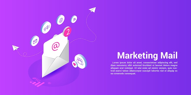 Landing page web template for marketing mail or mailing agencies