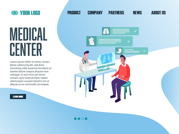 Landing page web template medical center