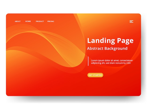 Landing page or web template in modern abstract design