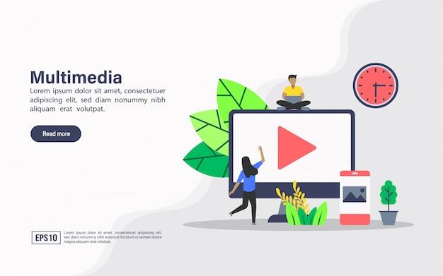 Целевая страница веб-шаблона мультимедиа