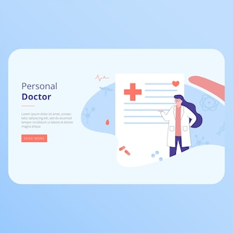 Landing page web template for personal doctor