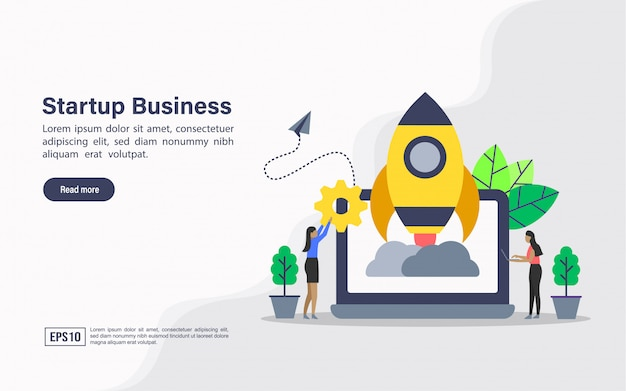 Landing page web template of startup