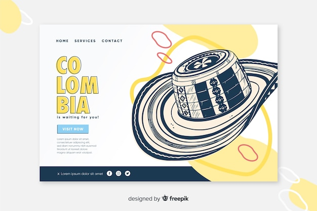 Landing page welcome to colombia
