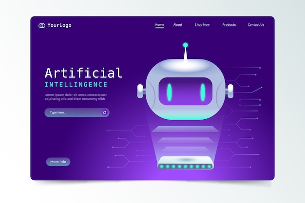 Landing page with artificial intelligence