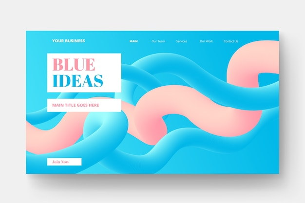 Landing page with dynamic shapes