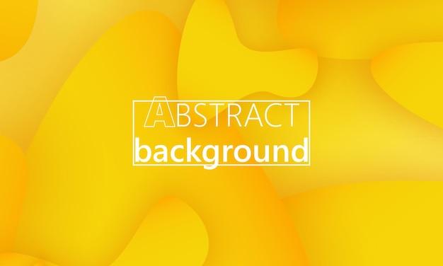 Целевая страница с желтым абстрактным фоном