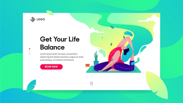 Landing page for yoga class