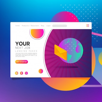 Landing page your next job