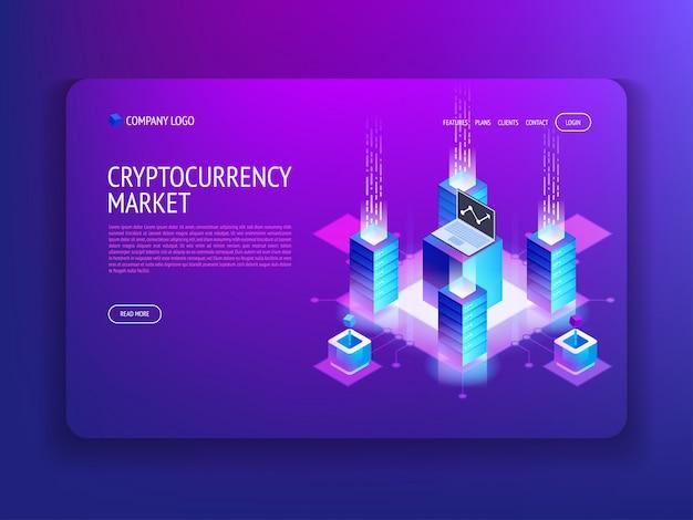 Рынок криптовалюты landing page