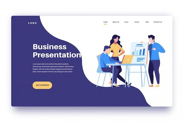 Бизнес-презентация landing page