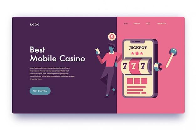 Landing page лучшее мобильное казино