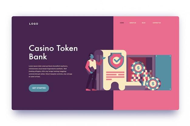 Landing page казино токен банк
