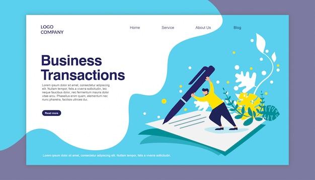 Бизнес-операции landing page