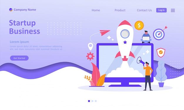 Начать бизнес landing page