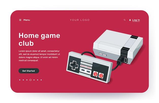 Целевые страницы с технологическими устройствами игры