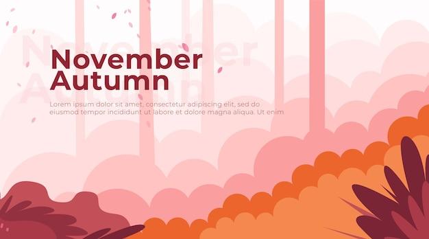 Landingpage november autumn