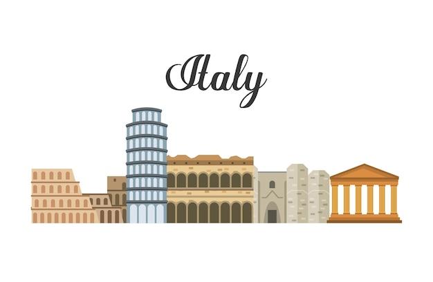 Значок ориентира. италия дизайн культуры. векторная графика