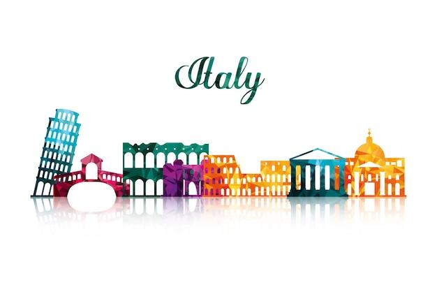 Landmark icon. italy culture design. vector graphic