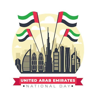 Landmark of united arab emirates celebration day