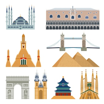 Landmarks And Monuments Set