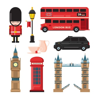 Landmarks and different culture objects of london
