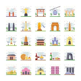 Landmarks icons pack