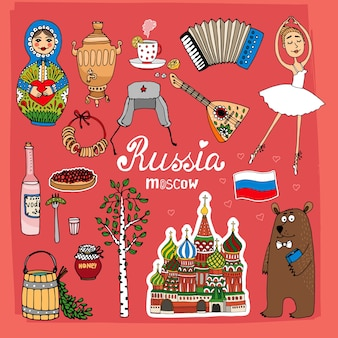Landmarks of russia set