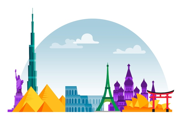 Landmarks skyline design