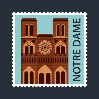 Landmarks of the world postcard notre dame