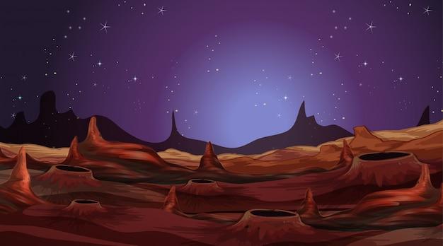 Paesaggio sul pianeta alieno