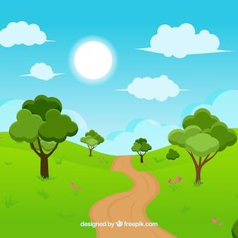 Landscape background design