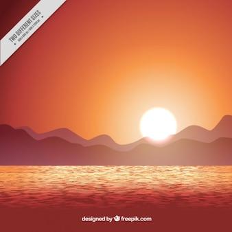 Landscape background, orange tones