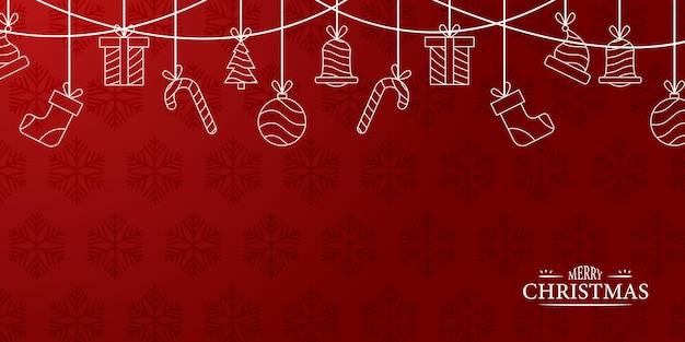 Landscape background outline merry christmas