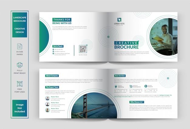 Landscape brochure design, business or corporate brochure