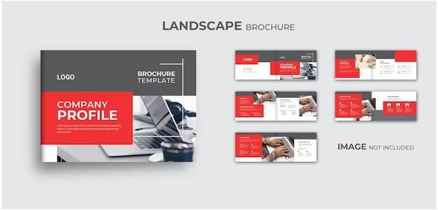 Landscape brochure template an modern minimal design