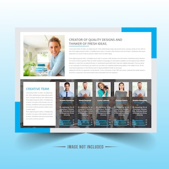 Landscape business brochure design