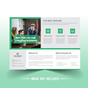 Landscape business brochure template