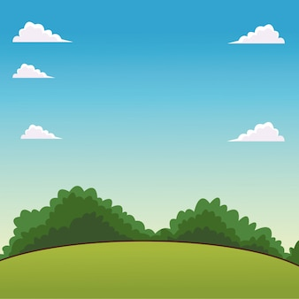 Landscape cartoon scenery