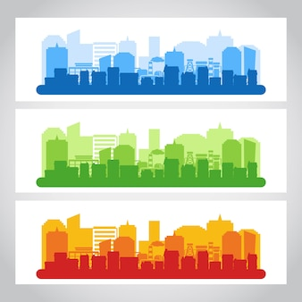 Landscape city banner color