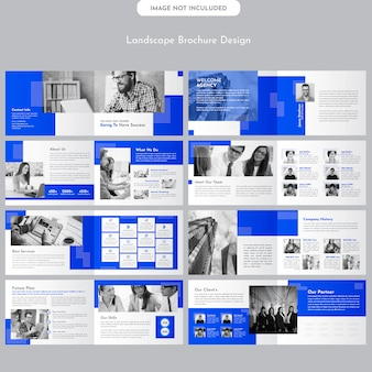 Landscape company brochure