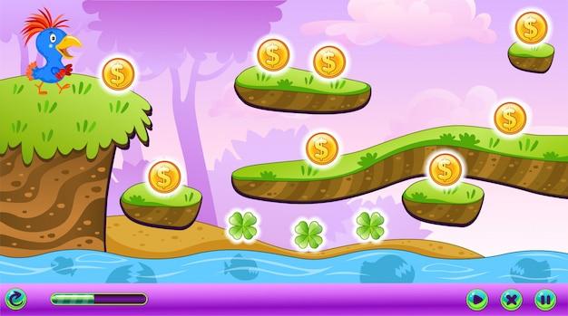 Landscape computer game.