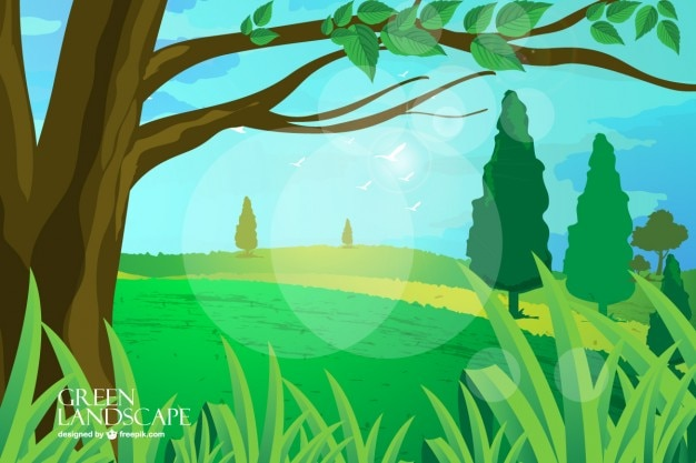 Landscape full of trees