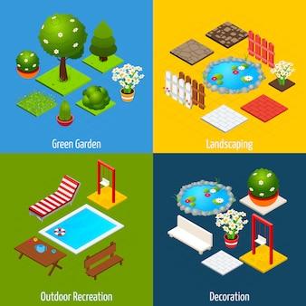 Landscape isometric design