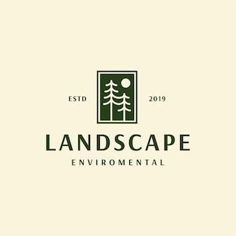 Пейзаж логотип