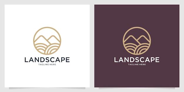 風景山のロゴデザイン